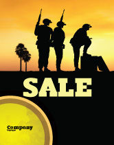 Military: Spec Ops Sale Poster Template #05148