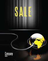 Global: Plugged In Sale Poster Template #05153