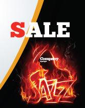 Art & Entertainment: Jazz Sale Poster Template #05158