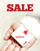 Consulting: Ace of Hearts Sale Poster Template #05168