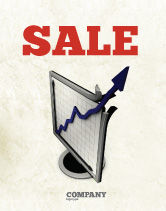 Financial/Accounting: Diagram Of Rise Sale Poster Template #05204