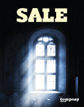 Religious/Spiritual: Window In the Church Sale Poster Template #05230