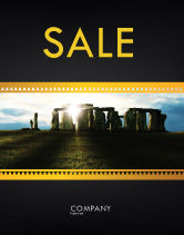 Flags/International: Stonehenge Sale Poster Template #05232
