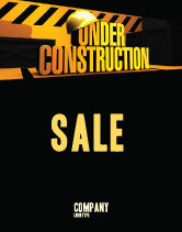 Business Concepts: Closed Under Construction Sale Poster Template #05236