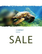 Agriculture and Animals: Sea Turtle Sale Poster Template #05237