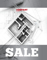 Construction: Home Remodeling Plan Sale Poster Template #05239