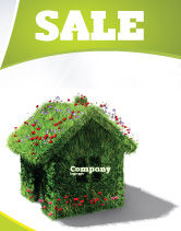 Careers/Industry: House of Flowers and Herbs Sale Poster Template #05268