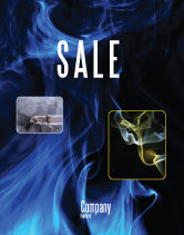 Abstract/Textures: Smoke Sale Poster Template #05269