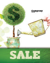 Financial/Accounting: Money Tree Sale Poster Template #05271