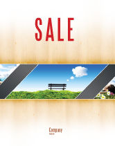 Nature & Environment: Bench Sale Poster Template #05275