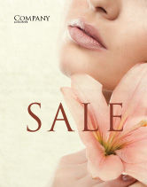 Medical: Lily Sale Poster Template #05288