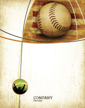 Sports: American Baseball Sale Poster Template #05296