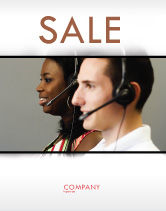 Careers/Industry: Telecoms Operator Sale Poster Template #05311