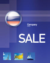 Flags/International: Russian Flag Sale Poster Template #05313