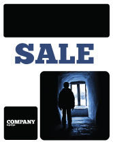 People: Loneliness Sale Poster Template #05322