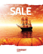 Cars/Transportation: Sailing Ship Sale Poster Template #05333