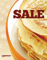 Food & Beverage: Pancakes Sale Poster Template #05343
