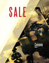 Military: Military Helicopter Sale Poster Template #05348
