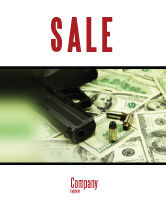 Financial/Accounting: Money and Guns Sale Poster Template #05349