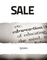 Education & Training: Glossary Sale Poster Template #05367