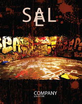 Art & Entertainment: Graffiti Zone Sale Poster Template #05376