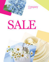 Careers/Industry: Table Bouquet Sale Poster Template #05406