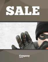 Legal: Masked Man Sale Poster Template #05417