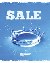 Nature & Environment: Blauwe Water Splash Poster Template #05444