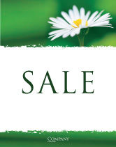 Nature & Environment: Daisy Chain Sale Poster Template #05462