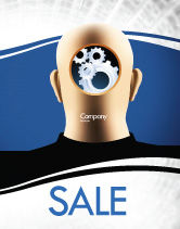 Consulting: Mechanistical Mental Work Sale Poster Template #05484