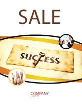 Business Concepts: Key to Success Sale Poster Template #05487