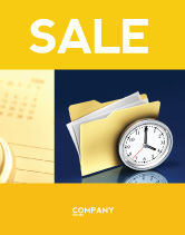 Business: Document Workflow Sale Poster Template #05499