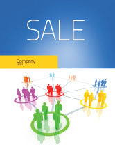Careers/Industry: Social Network Communication Sale Poster Template #05548