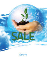 Nature & Environment: Save World Sale Poster Template #05558