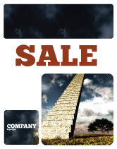 Business Concepts: Stairway To Heaven Sale Poster Template #05581