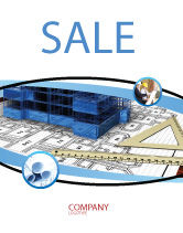 Construction: Office Building Planning Sale Poster Template #05599