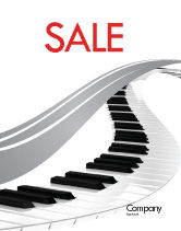 Careers/Industry: Piano Sale Poster Template #05616