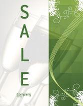 Art & Entertainment: Modello Poster - Sfondo verde con decorazioni vegetativo #05621