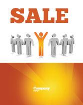 Careers/Industry: Orange Winner Sale Poster Template #05622