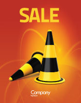 Construction: Traffic Cones Sale Poster Template #05631