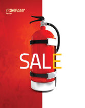 Careers/Industry: Fire Extinguisher Sale Poster Template #05641