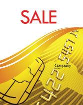 Financial/Accounting: Bank Credit Card Poster Template #05643