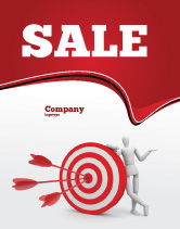Consulting: Reach Target Sale Poster Template #05667