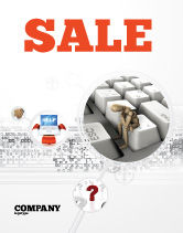 Business Concepts: Escape From Reality Sale Poster Template #05668