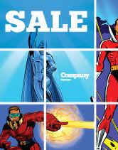 Art & Entertainment: Superheroes Sale Poster Template #05738