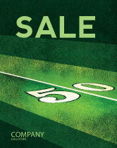 Sports: American Football Field Sale Poster Template #05744