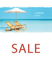 Careers/Industry: Beach Bench Sale Poster Template #05791