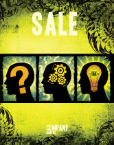 Business Concepts: Thinking Process Sale Poster Template #05809