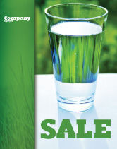Food & Beverage: Glass of Water Sale Poster Template #05815