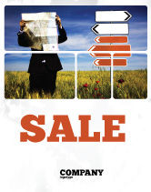 Business Concepts: Choosing Root Sale Poster Template #05832